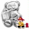 Teddy Bear with Block Cake Tin