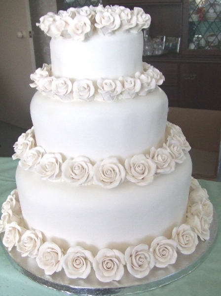 Theresa and Tim's 3 Tier Stacked Wedding Cake