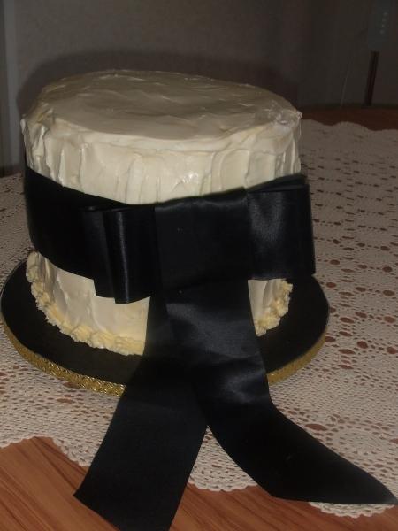 Anna's 2 Tier Chocoate Mud with White Truffle Chocolate Wedding Cake