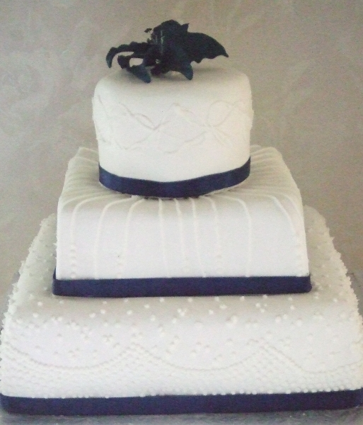Carole & Mike's Wedding Cake