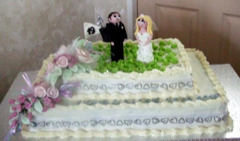 Fiona & Allan's Wedding Cake