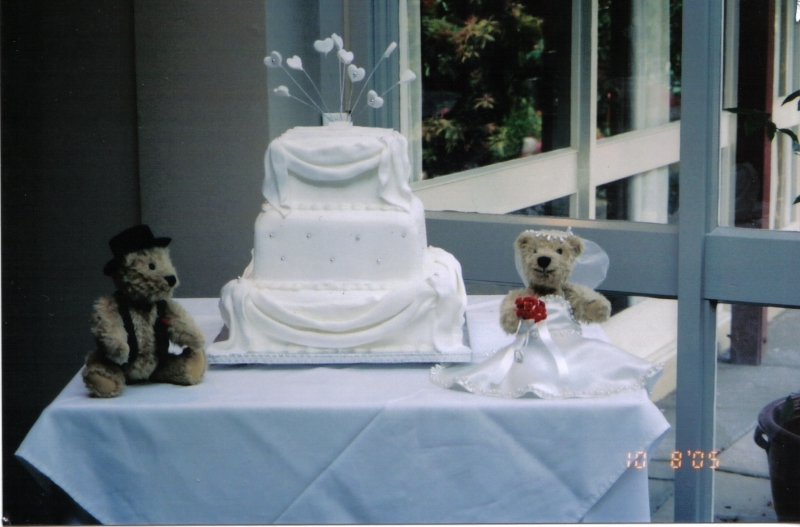 Judy's 3 Tier White Wedding Cake