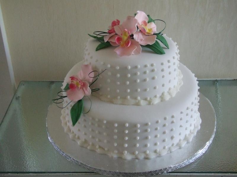 Kathy's 2 Tier Stacked Wedding Cake