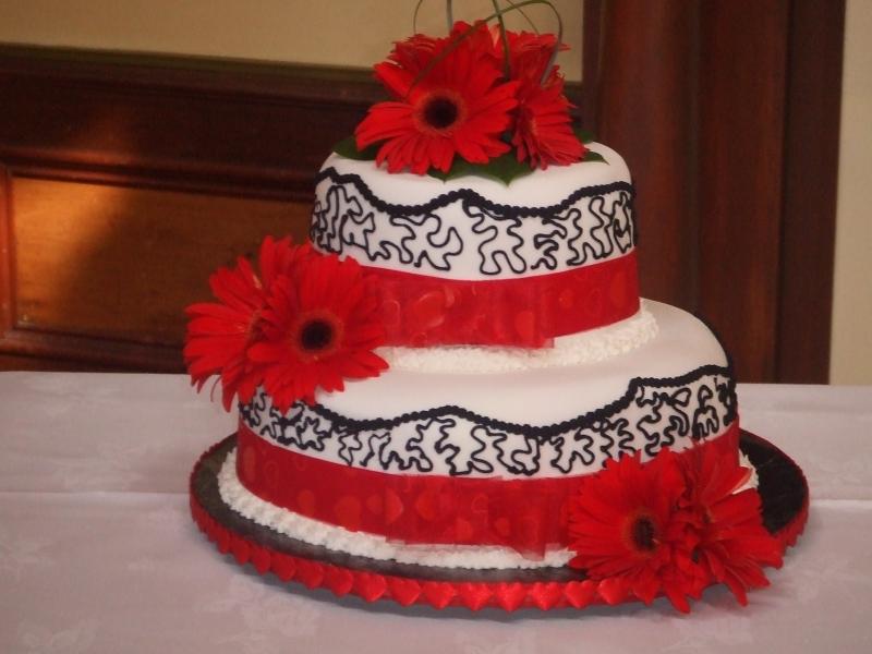 Leann's 2 Tier Stacked Chocolate Mud Wedding Cake