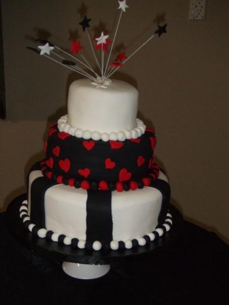 Lillian's 3 Tier Modern Stacked Wedding Cake