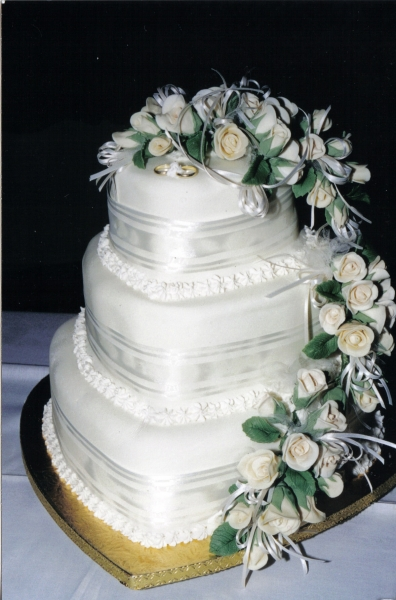 Melaine's 3 Tier Heart Wedding Cake