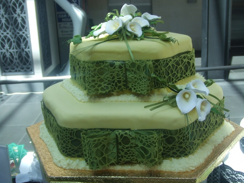 Miriam's Modern Stacked Wedding Cake