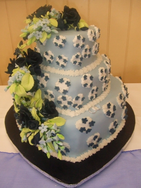 Rebecca's 3 Tier Stacked Heart Wedding Cake