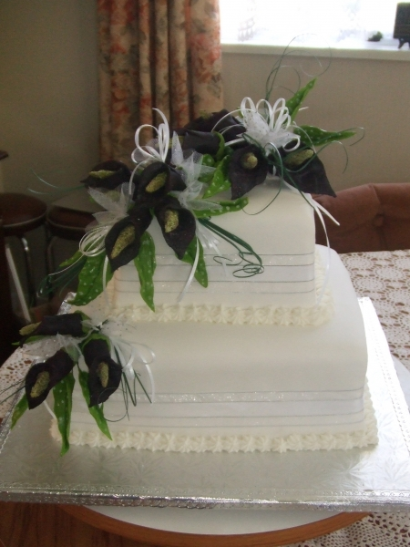 Carolyn's 2 Tier Square Fruit Cake Wedding Cake