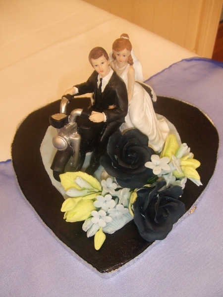 Rebecca's Motorcycle Couple Cake Topper