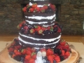 3 tier naked wedding with fresh mixed berries 5th February 2017