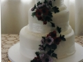 Amy's White 3 Tier Wedding Cake with Anemones
