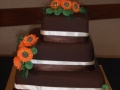 Cherrie's Chocolate Mud with Hand Made Gerbas Wedding Cake