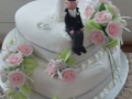 Debbie's 2 Tier Heart Stacked Wedding Cake