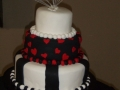 Lillian's 3 Tier Modern Stacked Wedding Cake