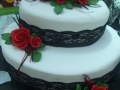 Lydia's 2 Tier Oval Wedding Cake