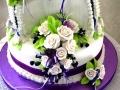 Maddie Grady- Hodge Wedding Cake -- Bottom Tier Floral Spray