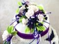 Maddie Grady- Hodge Wedding Cake -- Top Tier Floral Spray