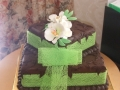 Maggie's 2 Tier Square Wedding Cake