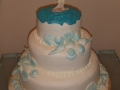Roaslie's 2 Tier Wedding Cake with a Beach Theme