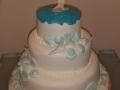 Roaslie's 2 Tier Wedding Cake with a Beach Theme