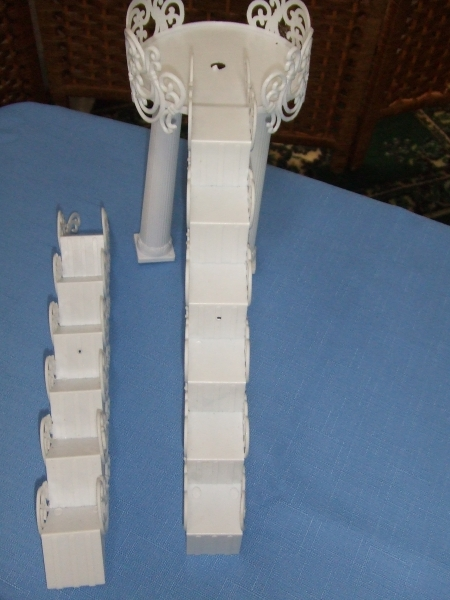 Set of Stairs and Bridge for Cake Fountain