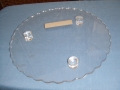 One Tier Round Perspex Cake Stand