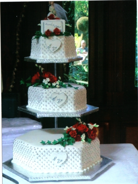 Alisa's 3 Tier Hexagonal Wedding Cake