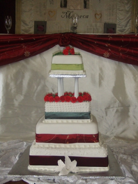 Janette's 5 Tier Wedding Cake