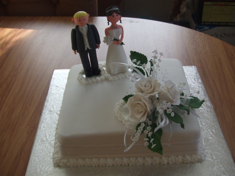 Kaye's Single Square Wedding Cake