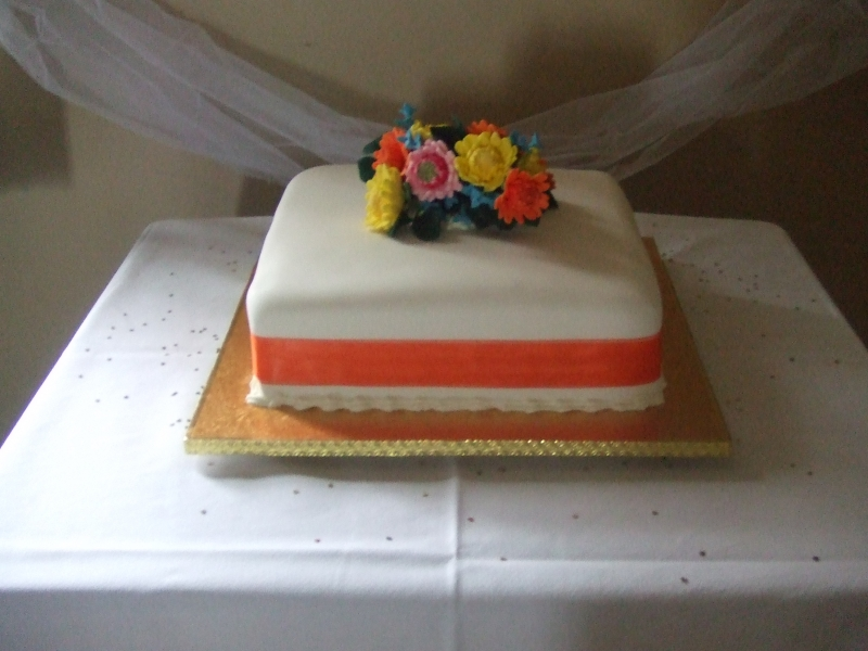Pasty's Traditional One Tier Chocolate Wedding Cake