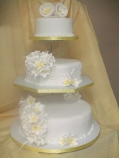 Sharon's 3 Tier Wedding Cake