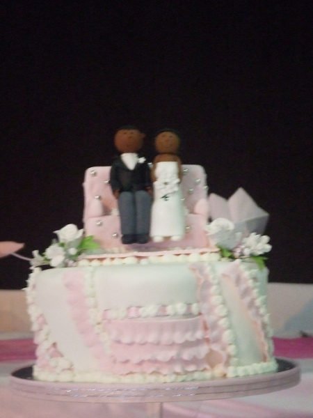 Zenny and Eliah's Top Tier of the 11 Tier Wedding Cake