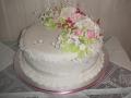 Linda's One Tier Round Fruit Cake Traditional Wedding Cake