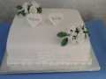 Richard & Kirsty one tier wedding cake 24-02-2018