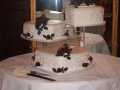 Rosyln's 3 Tier Heart Chocolate Mud Wedding Cake on Cake Stand