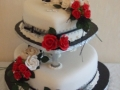 Sally's 2 Tier Heart Wedding Cake