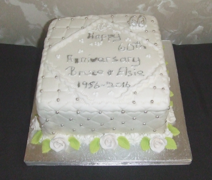 Golden Wedding Cake April 60th Anniversary