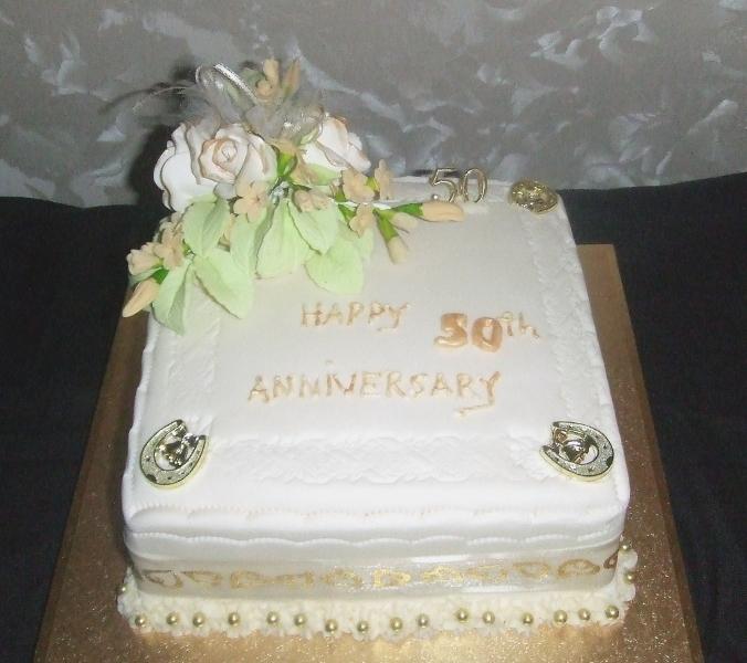 Golden Wedding cake April