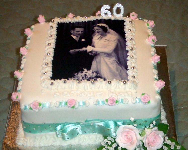 Rae's Diamond Wedding Anniversary Cake