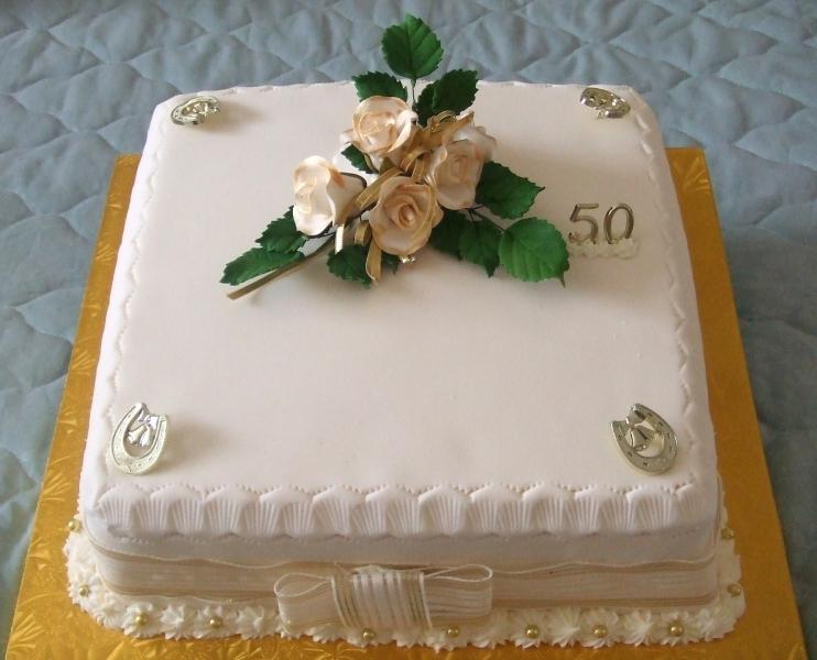 Ruby's 50th Wedding Anniversary Cake