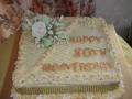 50th Anniversary cake August 2017