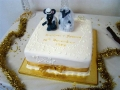 Norman and Yvonne's 50th Wedding Annversary Cake