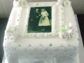 60th Diamond Wedding Anniversary Cake
