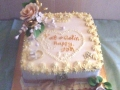 50th Wedding Anniversary Cake for Pat and Colin