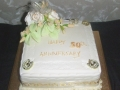 Golden Wedding cake April