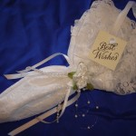 SATIN AND LACE PARASOL
